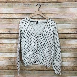"""Divided by H&M """"X"""" Print Cardigan - Large"""